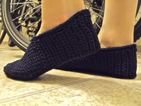 Easiest One Piece Slippers Free Pattern Crochet Creations By L